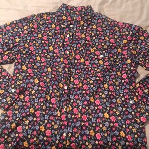 Floral LS button-down shirt